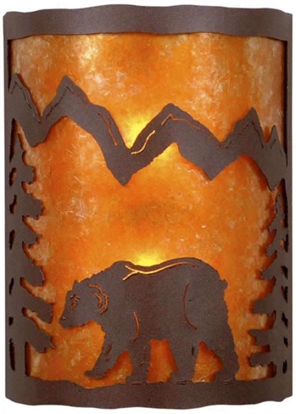 "Cascade Collection Bear 12"" High Wall Sconce (j0452)"