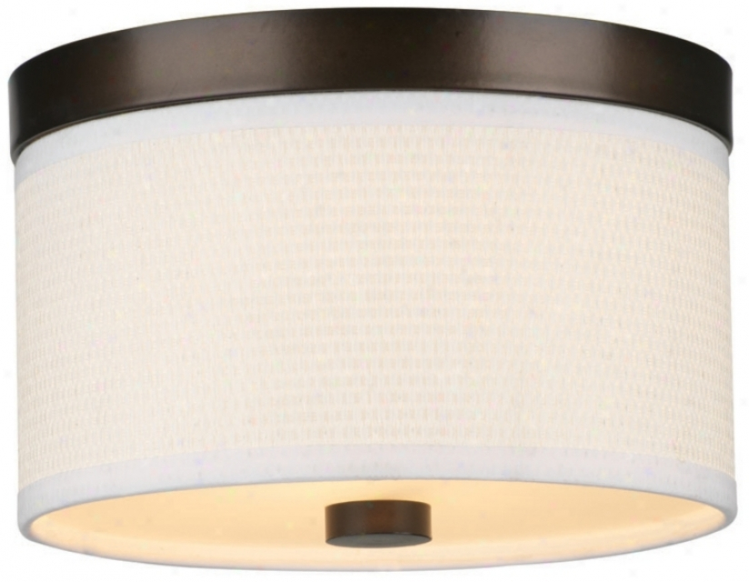 "Cassandra Bronze Energy Efficient 10 3/4"" Remote Ceiling Light (j9312)"