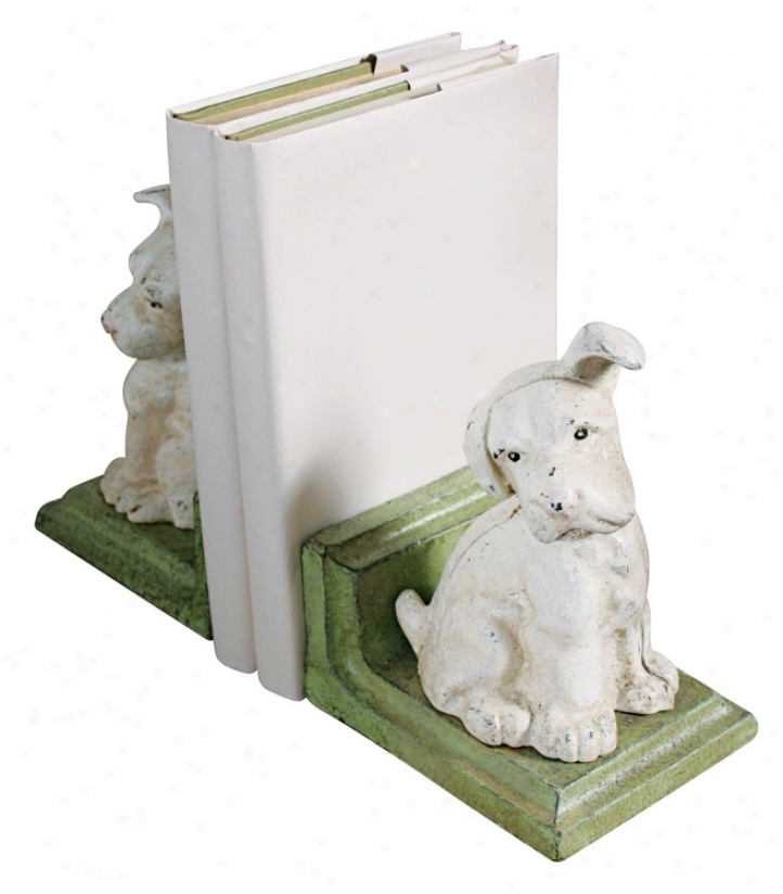Cast Iron Fop Bookends (j5668)