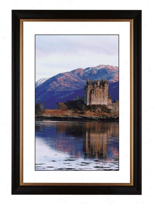 "Castle Reflections Gicled 41 3/8"" High Wall Art (56912-80384)"