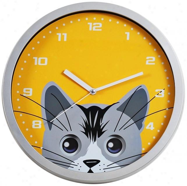 Cat Eye Pendulum 12&qukt; Wide Wall Clock (m885)
