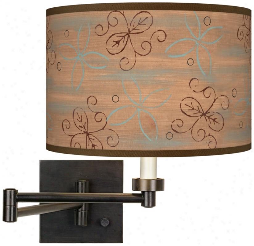 Cedar Lake Giclee Dark Bronze Plug-in Swing Arm Wall Light (h6553-t9309)