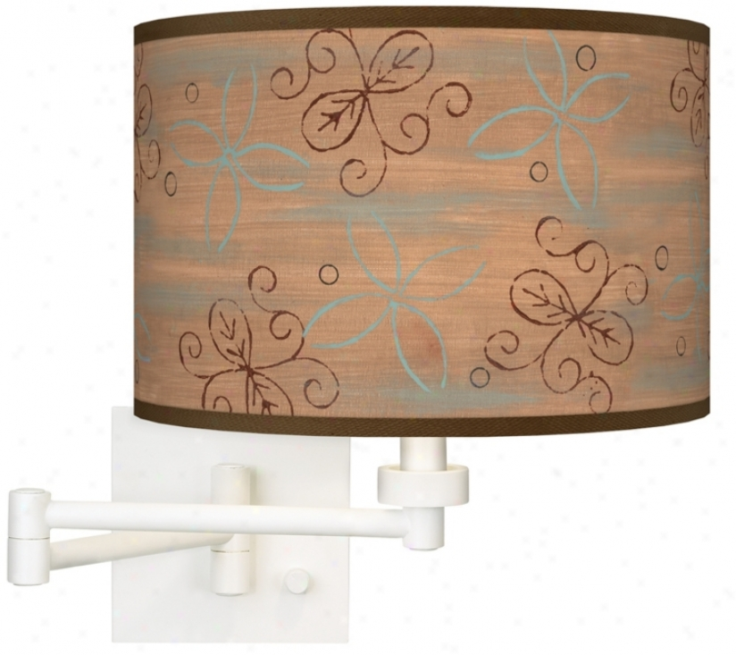Cedar Lake Giclee Matte White Plug-in Swing Arm Wall Light (h6558-t9312)