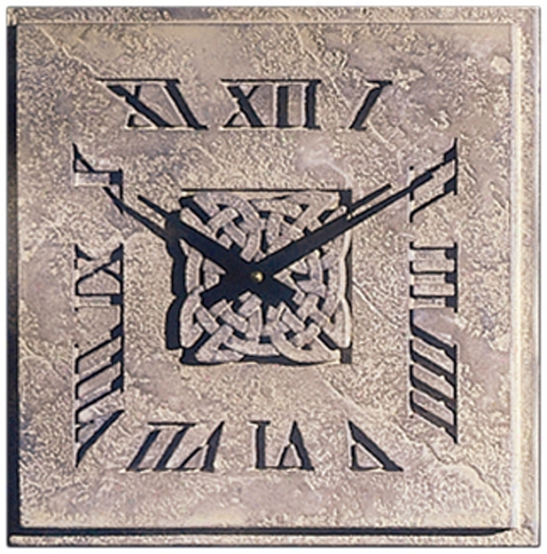 "Celtic Knot 14"" Wide Battery Powered Square Wall Clock (m0285)"