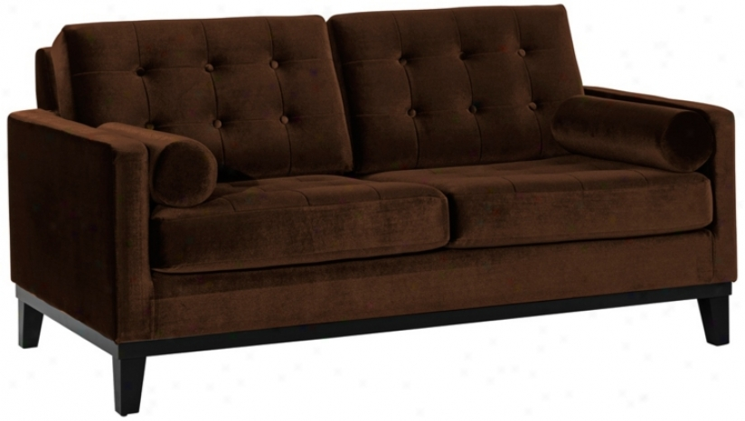 Centennial Brown Velvet Loveseat (t3700)