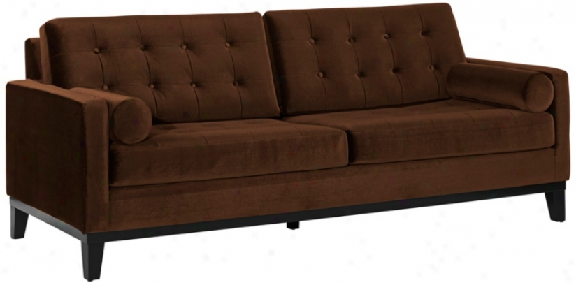 Centennial Brown Velvet Sofa (t3703)