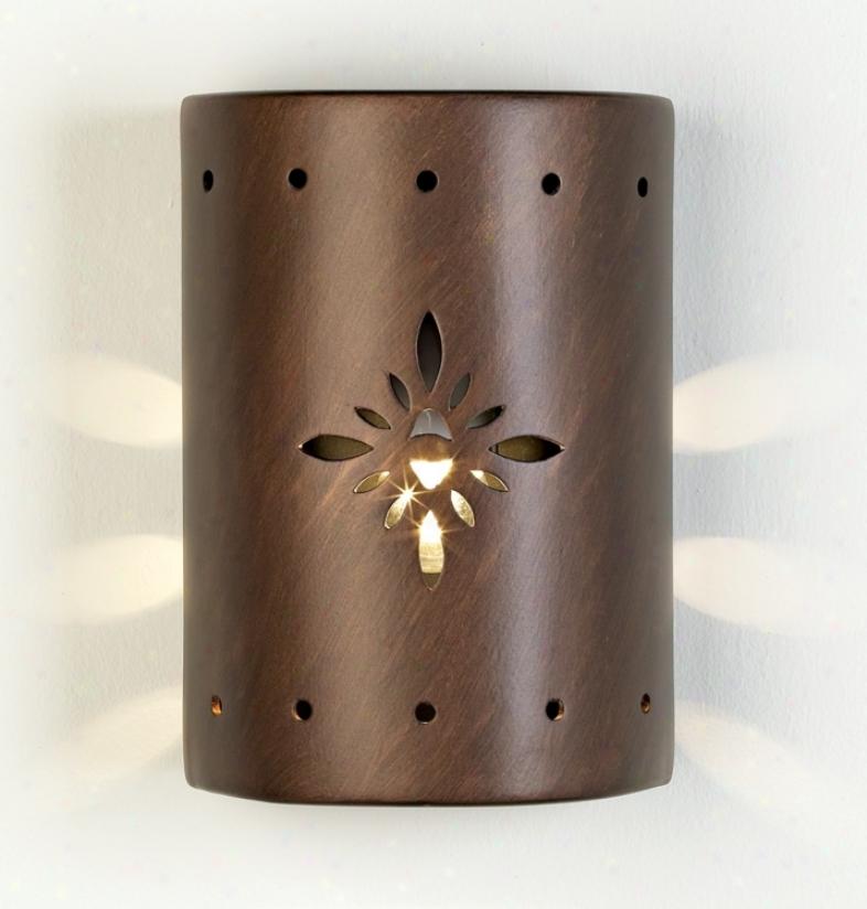 Ceramic Star Pattern Outdoor Wall Light (52670)