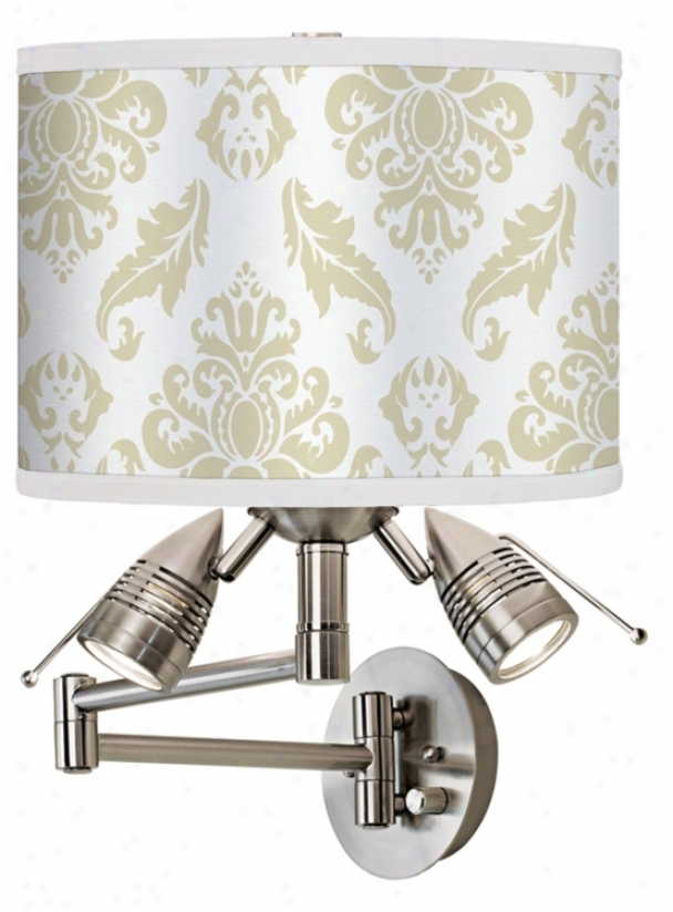 Champagne Filigree Giclee Swing Arm Wall Light (80379-94887)