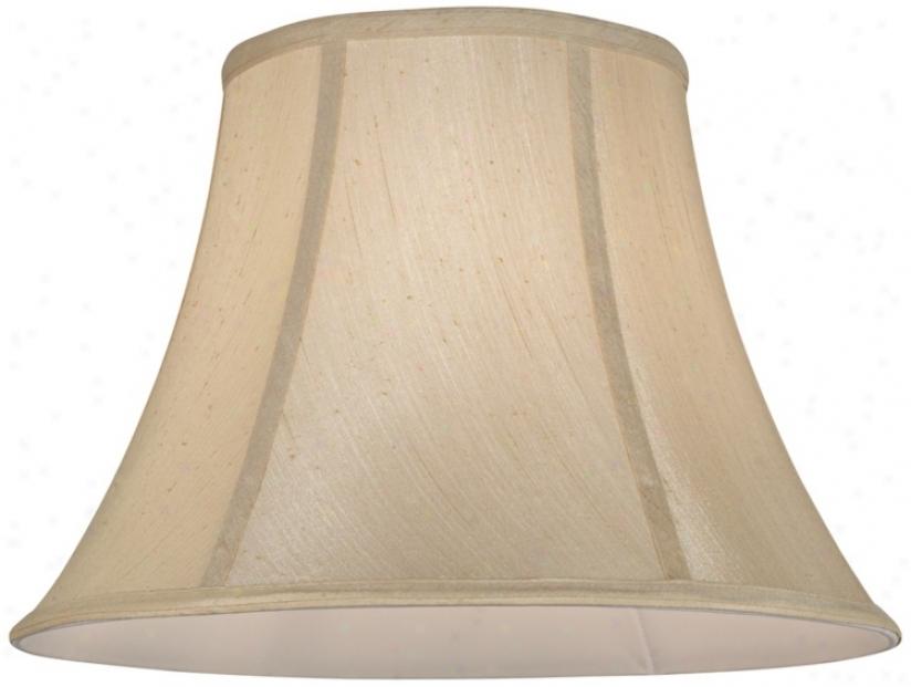 Champagne Softback Bell Lamp Shade 9.5x18s12.5 (spider) (v9746)