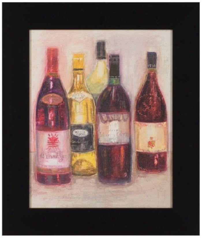 """Chardonnay Sketch 25"""" High Framed Wall Art (t0230)"""