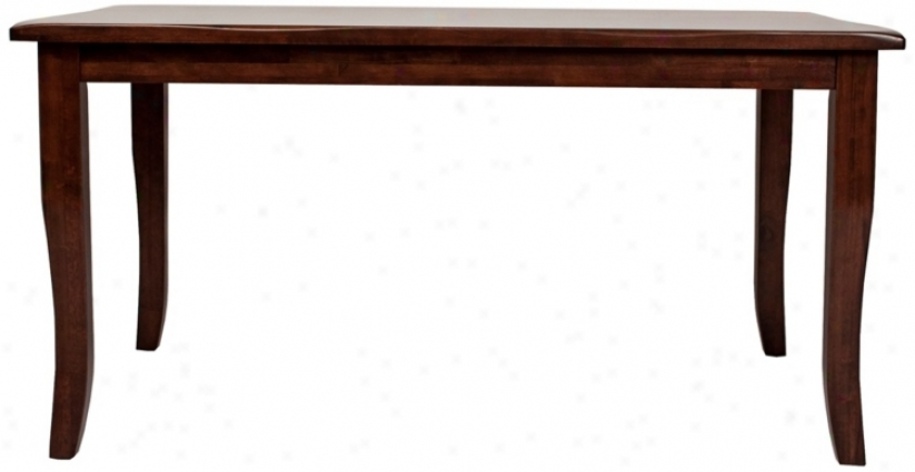 Charlotte Collection Espresso Finish Curved Leg Dining Table (t5164)