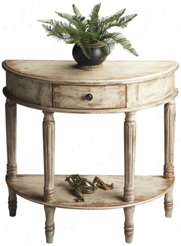 Chateau Gray Demilune Wood Console Table (u4490)