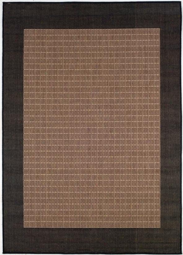 Checkered Field Cocoa-black Outdoor Rug (96504)