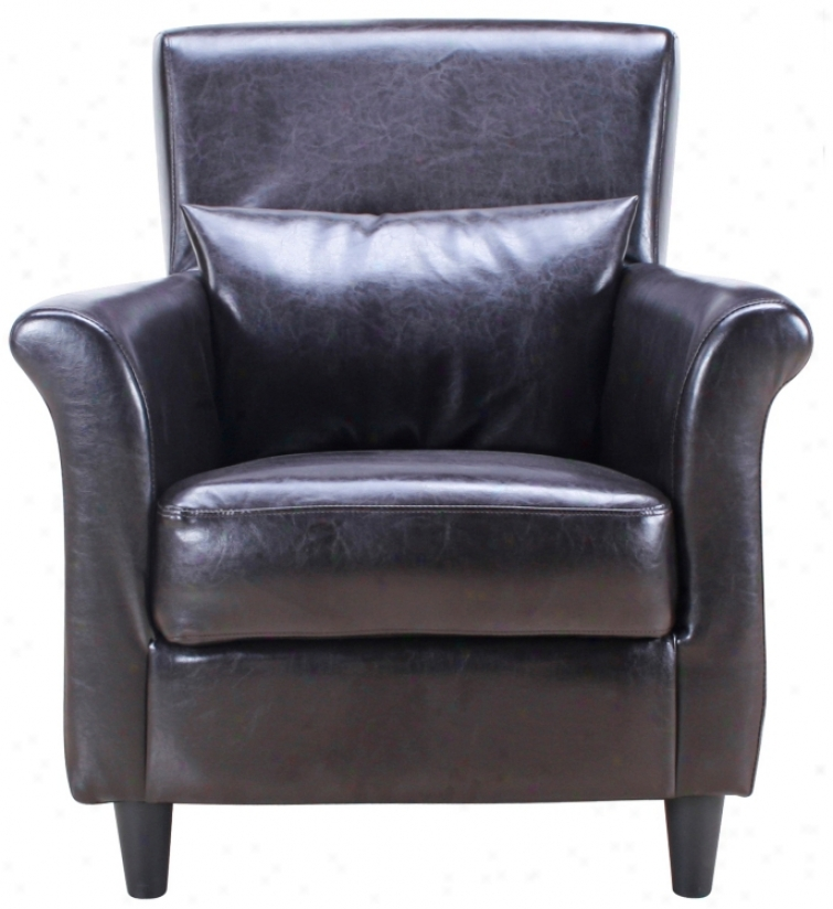 Chives Tub Dark Brown Club Chair (w1341)