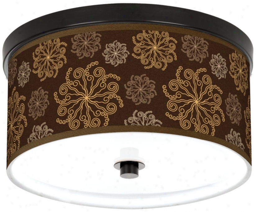 "Chlcolate Blossom Thread of flax 10 1/4"" Wide Cfl Ceiling Light (k2833-u1662)"