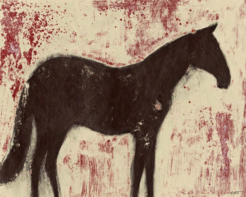 "Chocolate Horse Giclee 40"" Wide Canvas Wall Art (n1704)"
