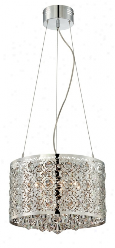 "Chrome 9-light 15 3/4"" Wide Hslogen Pendant Light (u0802)"