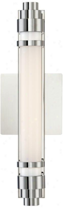 """Chrome Ada Compliant 14 1/4"""" Wide Fluorescent Bath Light (u8705)"""