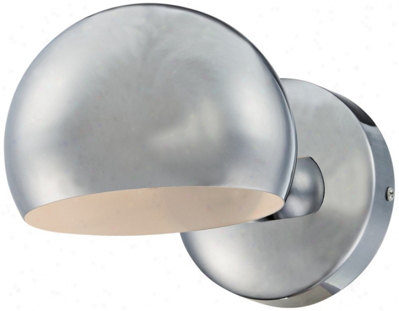 "Chrome Dome 6"" Wide Wall Sconce (u1422)"