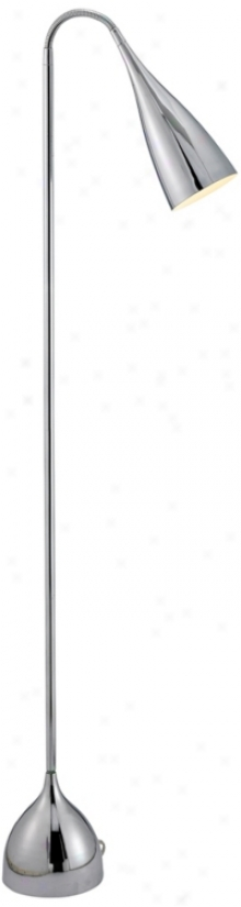 Chrome Finish Goosrneck Floor Lamp (r4703)