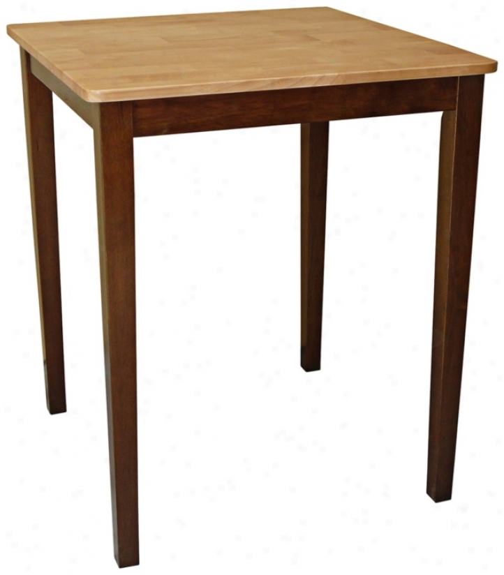 Cinnamon And Espresso Shaker Adjusted Counter Height Table (u4216)
