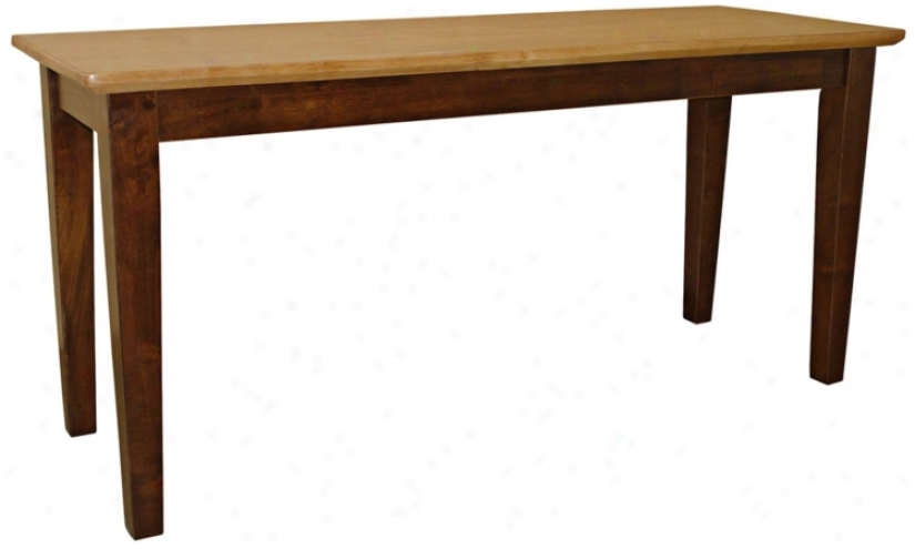 "Cinnamon/espresso Finish 39"" Wide Shaker-styled Bench (u4228)"