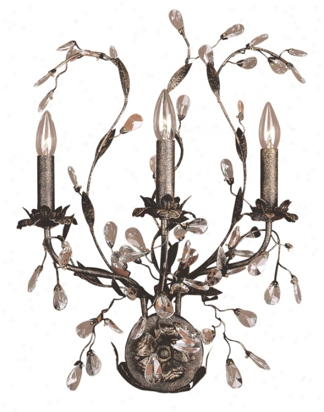 "Circeo Collection 24"" High Three Light Wall Sconce (01482)"