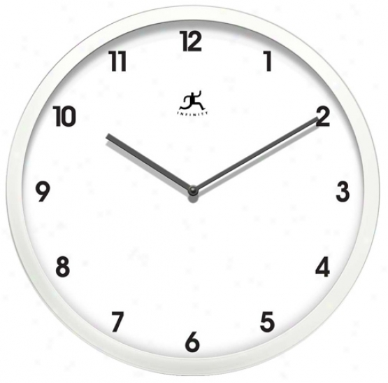 "Cirrus 12 1/4"" Wide Round Wall Clock (r6882)"