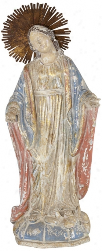 """Classic 27 1/2"""" High Virgin Mary Statue (t8814)"""