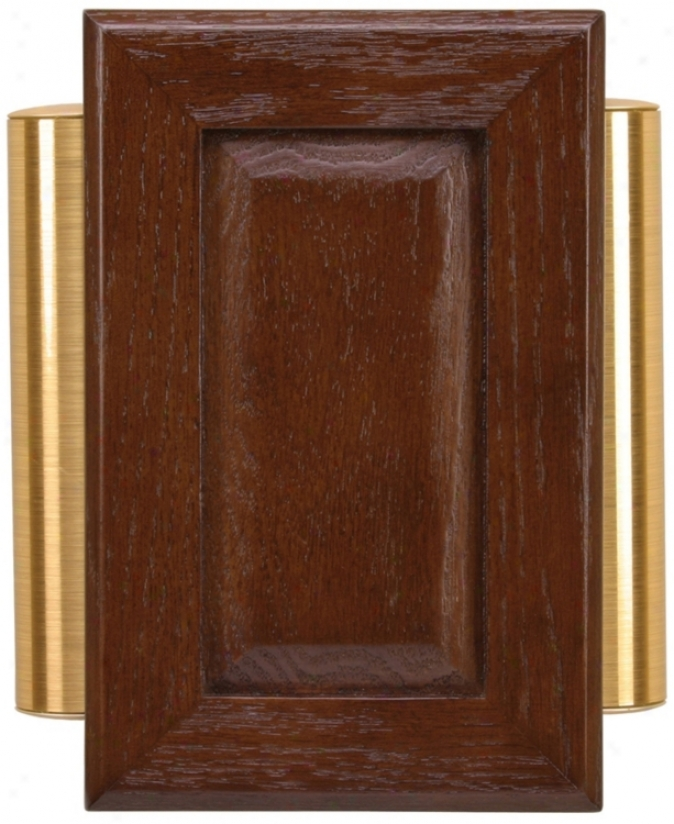 Classic Cherry Red Oak With Side Tubes Door Chime (k6182)