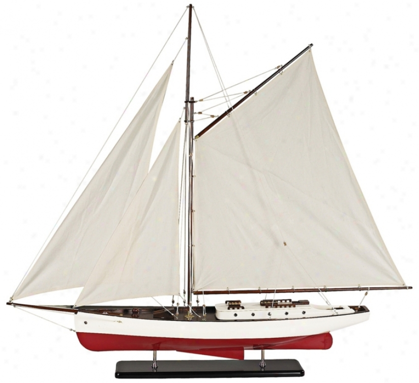 Classic Cruiser 1930s Large Model Yacht Sailboat (f8744)