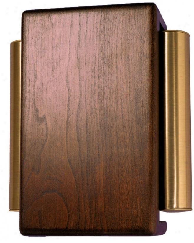 Classic Dark Cherry iWth Brass Siide Tubes Door Chime (k6186)