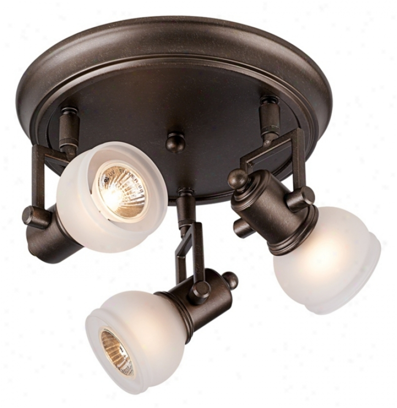 """Classic Pewter 19"""" Wide 3-light Ceiling Light Fixture (18295)"""