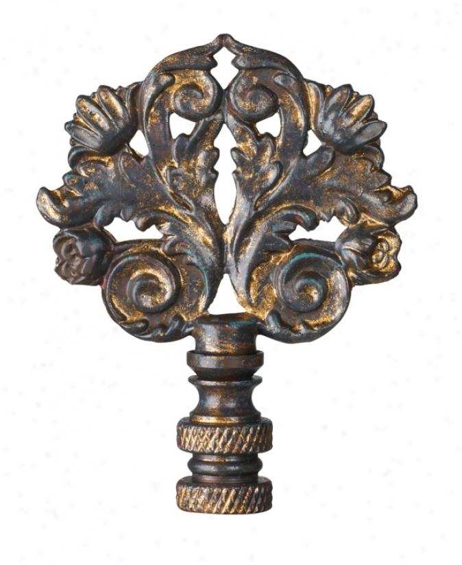 Classic Scroll Lamp Shade Finial (36325)