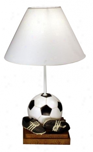 Classic Sporys Collection Soccer Table Lamp (64270)