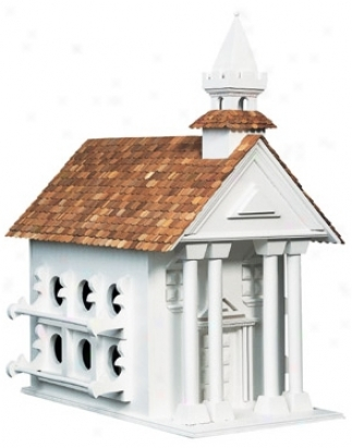 Classic Town Hall Bird House (h9551)