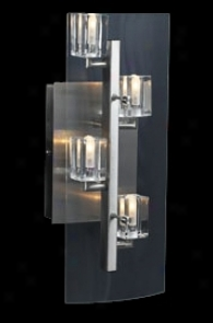 """Clear Glass Cubes 5 1/2"""" Wide Wall Sconce (93019)"""