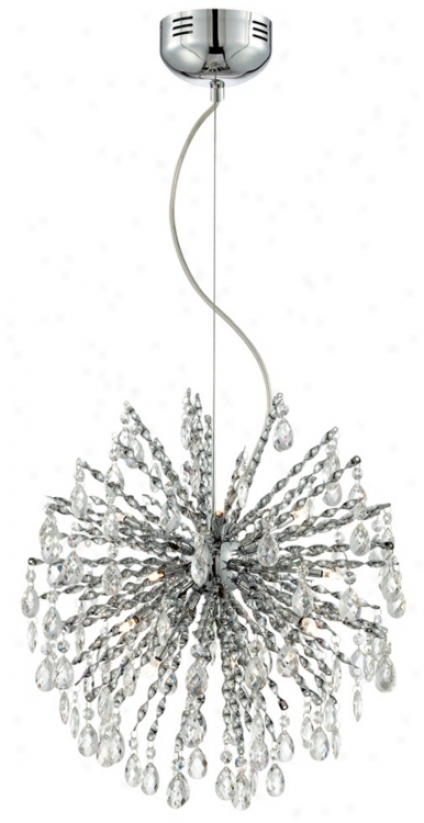 "Clear Glaws Icicle Through  Crystals 18 1/4"" Wide Pendant Light (u0781)"