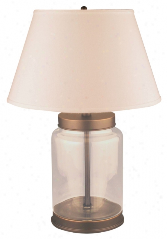 Clear Glass Removable Top Table Lamp (f3177)