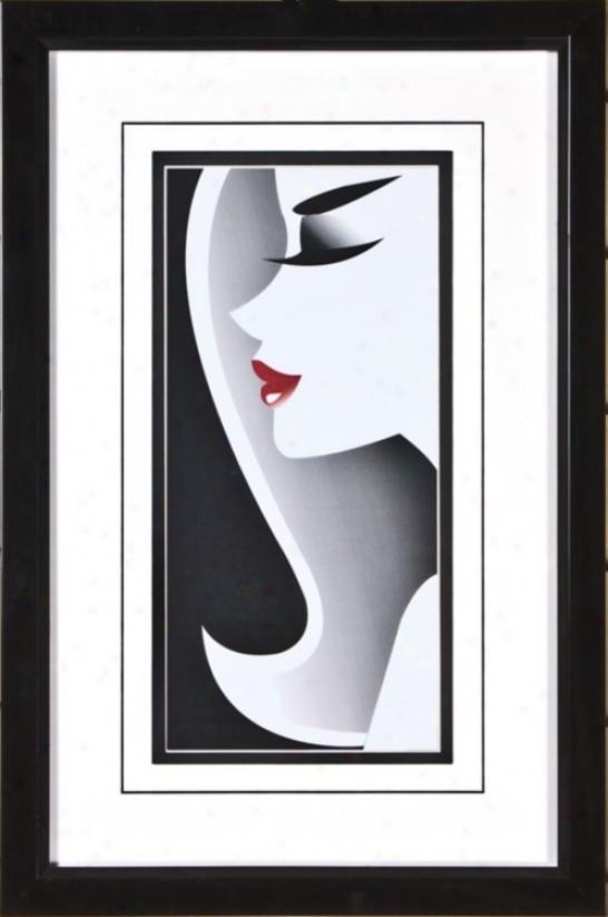 """Close Ups Iii Print Under Glass 17 3/4"""" High Wall Art (h1883)"""