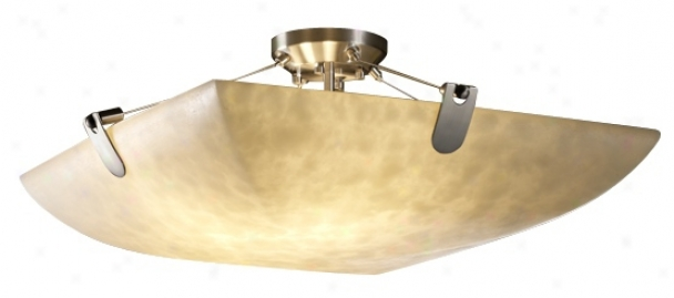 Clouds Collection 18&quof; Wide Brushed Nickel Ceiling Light (v7780)