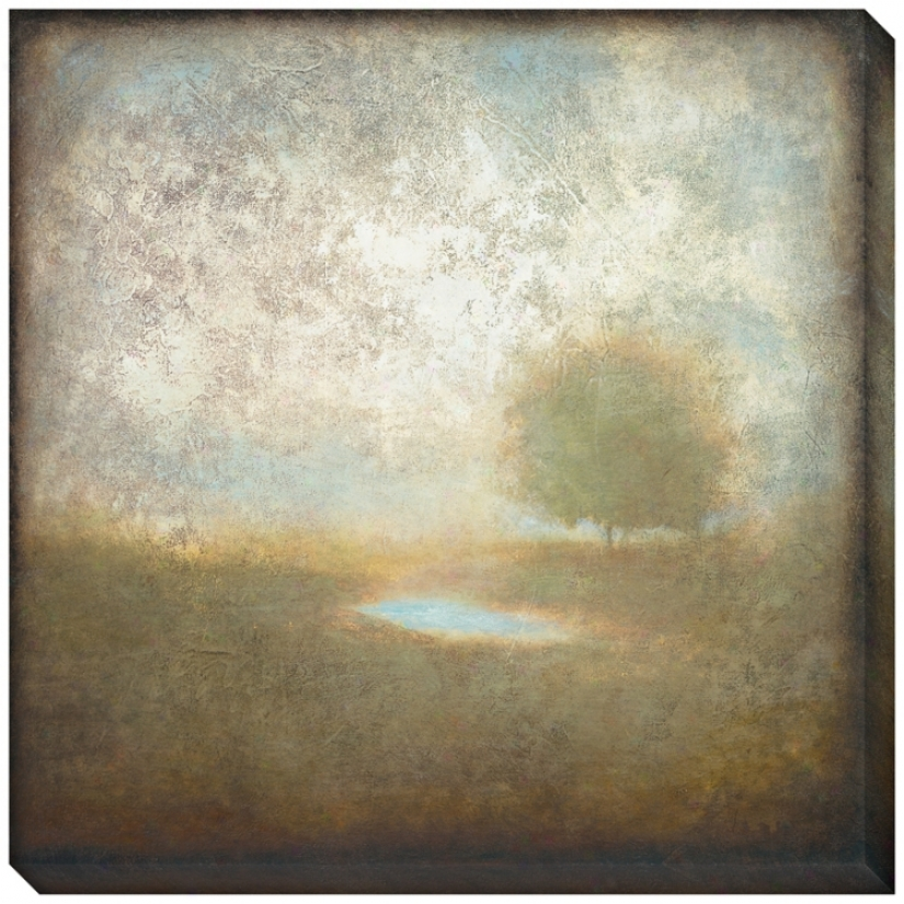 "Cloudscape I Indoor/outfoor 40"" Square Wall Art (l0605)"