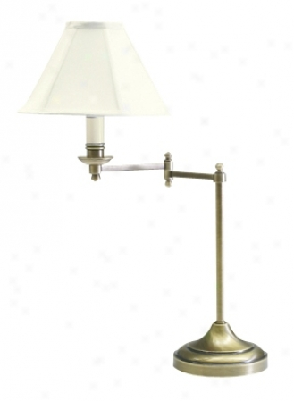Club Antique Brass Swiing Arm Desk Lamp (33854)