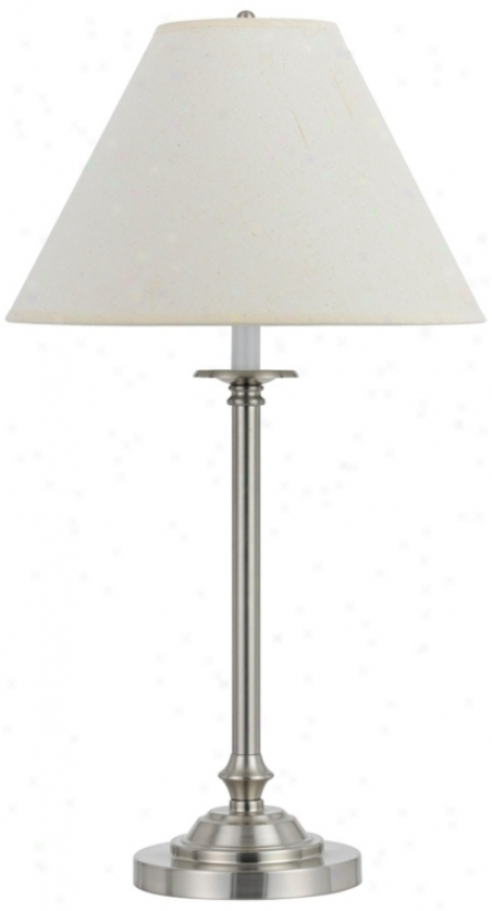 Club Brushed Steel Metal Table Lamp (p6659)