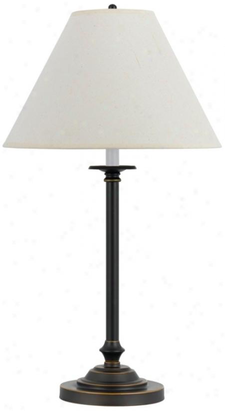 Club Dark Bronze Metal Table Lamp (p6658)