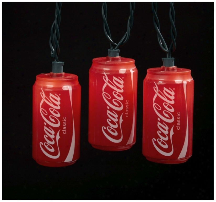 Coca-cola Cans 10-light String Of Party Lights (n6340)