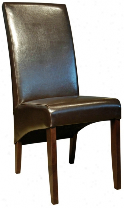 Coco Brown Bicast Leather Sidechair (g4827)