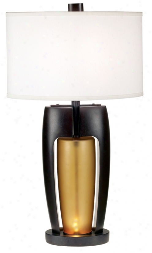 Coffee And Amber Night Light Table Lamp (44568)
