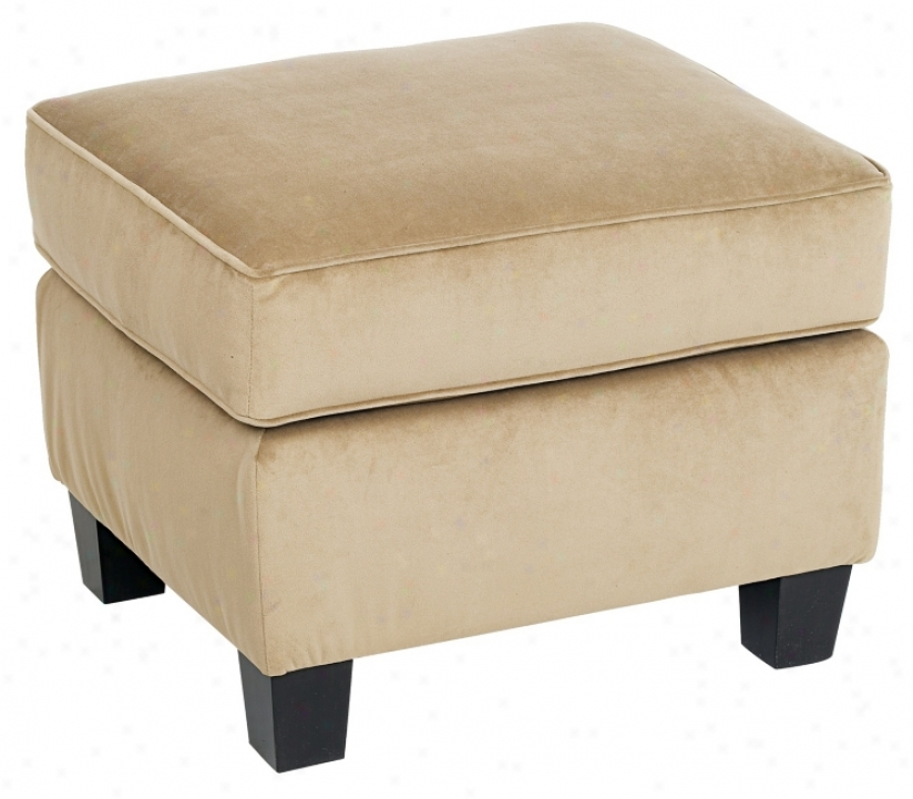 Coffee Microfiber Fabric Covered Bella Ottoman (h7874)
