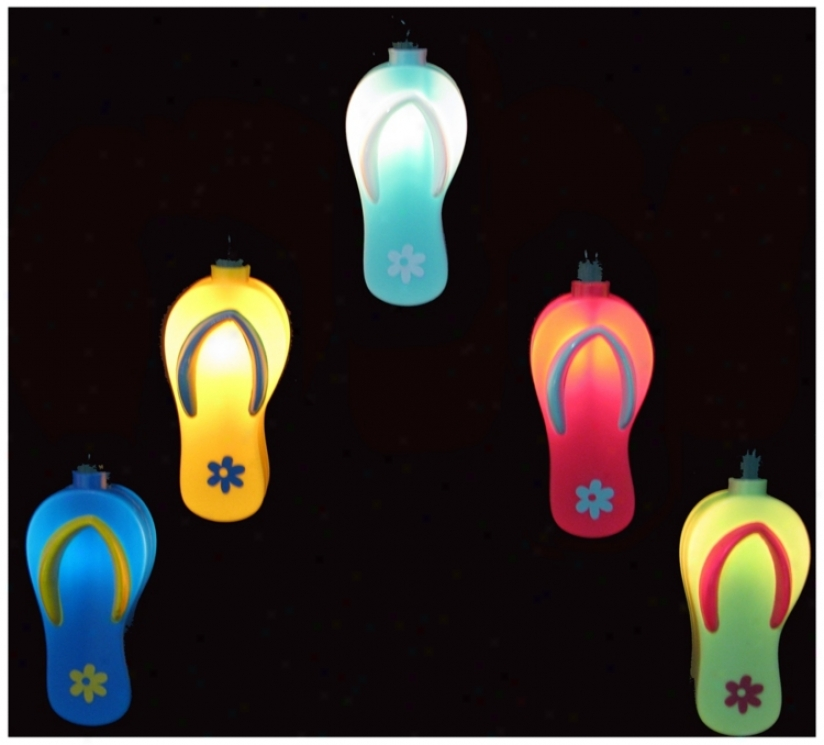 Coloful Sandals 10-light Stfing Of Party Lights (n6602)